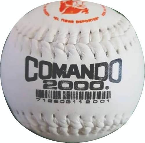 Pelota softbol mexicana comando 2000 100% cuero vacuno