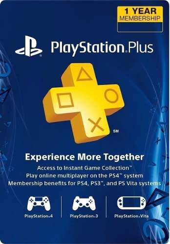 Playstation plus 12 meses/1 año! ps3, ps4, ps vita. codigo!