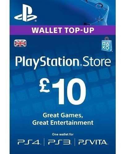 Psn card uk 10 £ libras reino unido original ps3 ps4 ps