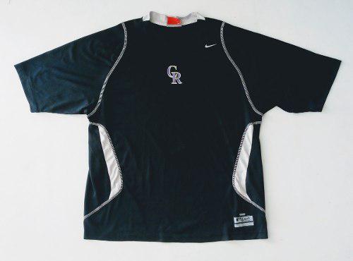 Remera nike softball hombre negra talle l (308).