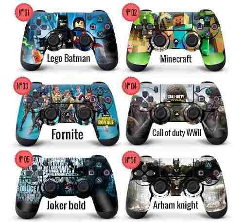 Skin adhesivo 3m joystick play 4 premium ploteo calco ps4