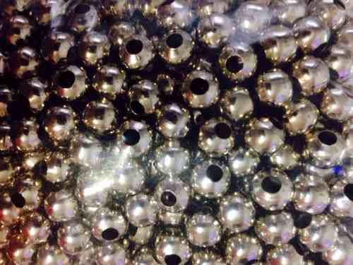 100 bolitas niquel 6mm de metal para armar bijouterie