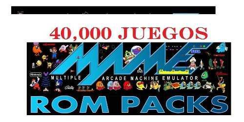 40,000 roms pc mame sega nintendo playstation one juegos