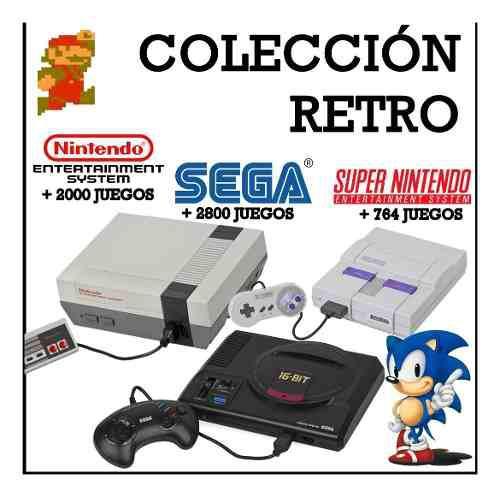 Colección juegos retro - nes snes y sega para pc - android