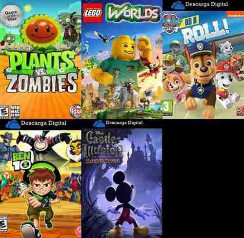 Combo 5 juegos infantiles - pc digital - entrega inmediata