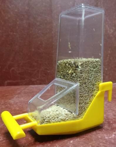 Comedero tolva para colgar de interior - jaulas lopardo