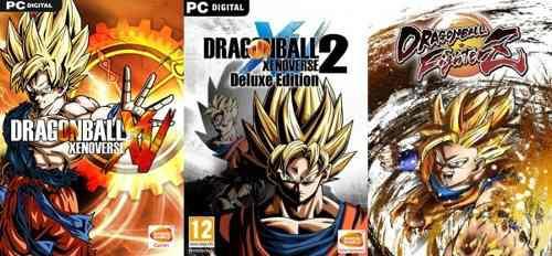 Dragon ball xenoverse 1 + 2 + fighterz (3 juegos) pc digital