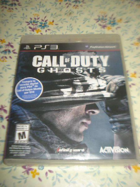 Juego call of duty ghost ps3 en caja y manual impecable