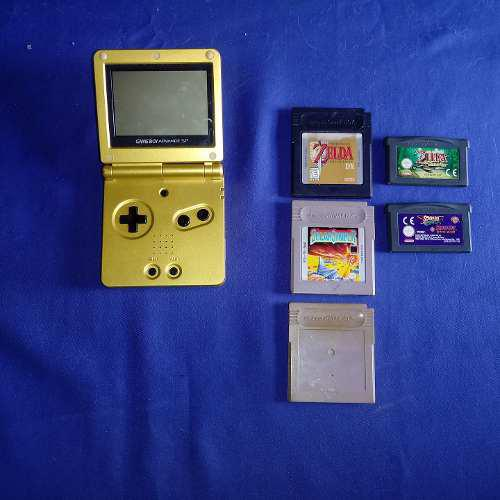Nintendo gameboy advance sp edición dorada zelda