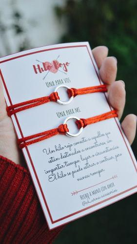 Pulseras hilo rojo para compartir parejas