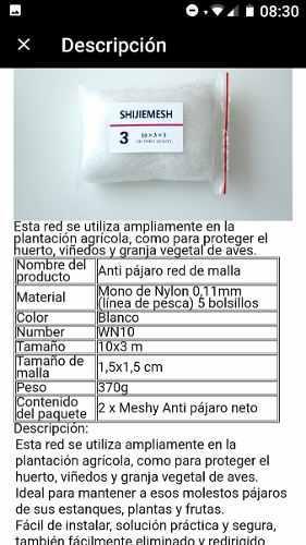 Red de niebla nylon 0.11mm.