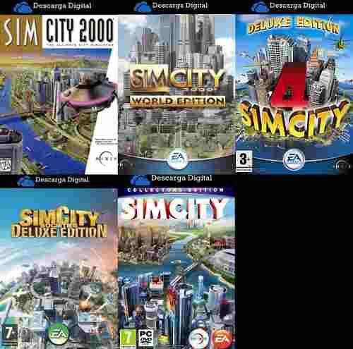 Saga simcity completa - combo 5 juegos pc digital