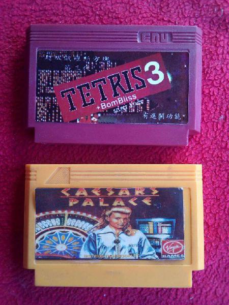 Cartucho family game tetris y caesars palace