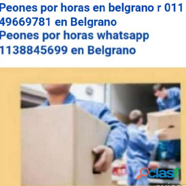 Peones de mudanza 24 hs. 011 49669781
