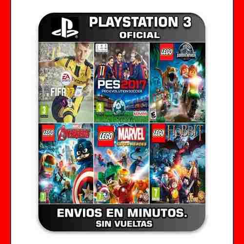 Pack de 6 juegos ps3 fifa + pes + lego y mas 15' min
