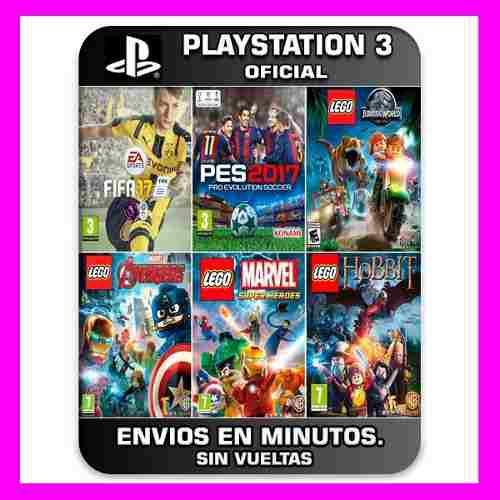 Pack de 6 juegos ps3 fifa + pes + lego y mas 30% off