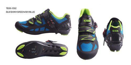 Zapatillas zapatos bicicleta ruta sbk ciclismo tb36-b1502