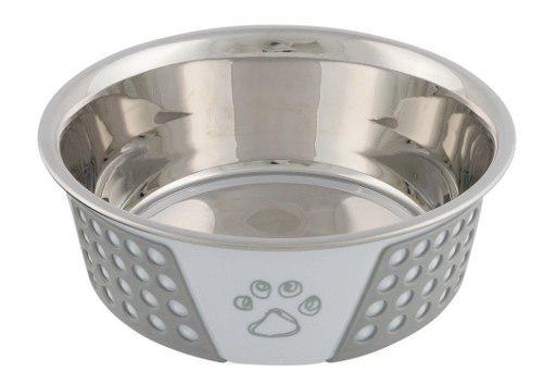 Bebedero comedero perros gatos trixie acero silicona 0.4 l