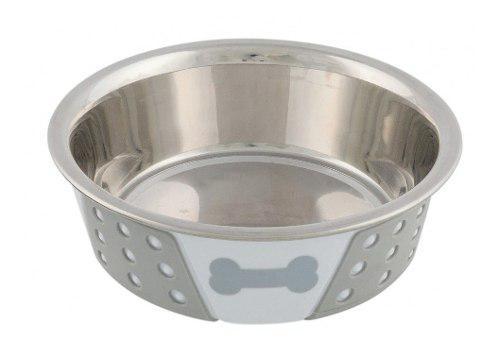 Bebedero comedero perros gatos trixie acero silicona 0.75 l