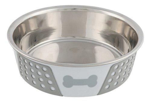 Bebedero comedero perros gatos trixie acero silicona 1.4 l