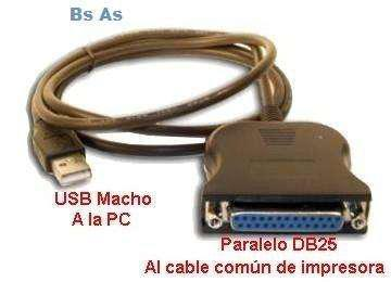 Conversor paralelo a usb impresoras epson lx810 lx300 ap2000