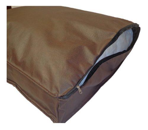 Colchón cama ecocuero 1.10x70x12 para mascotas perros gatos