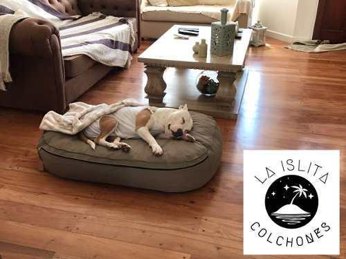 Colchón cama puff perros desmontable impermeable 110x70x20