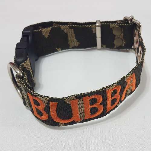 Collar de perro regulable con identificación bordada 3cm