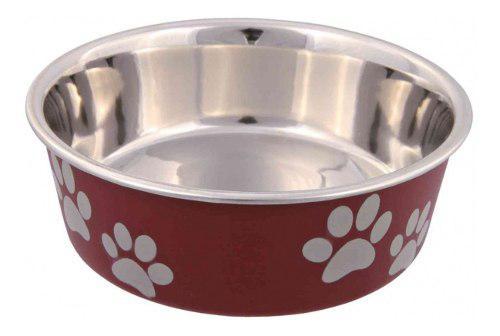 Comedero bebedero perros acero y plastico 1,4 l trixie