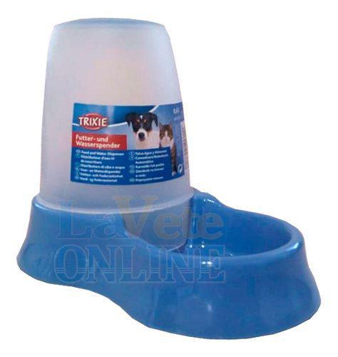 Comedero bebedero plastico perros gatos dispenser 0.6 l