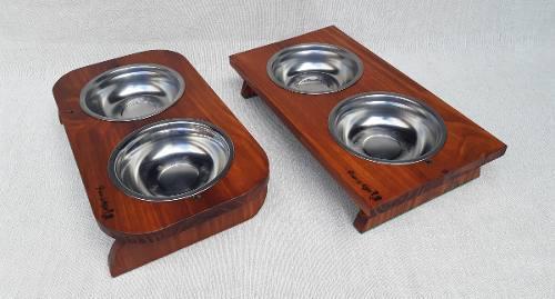 Comedero y bebedero para gato y perro pequeño 6.5 cm