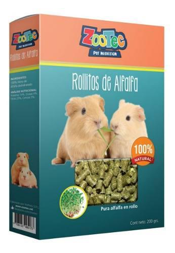 Cookies golosinas alfalfa roedor cobayo hamster zootec 200gr