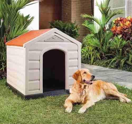 Cucha / casa de perro grande térmica + comedero de regalo