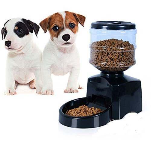 Dispenser comedero automatico para perro gato programa