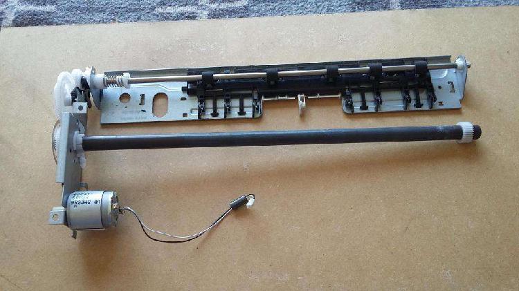 Encoder motor eje engranajes chapa soporte - impresora hp