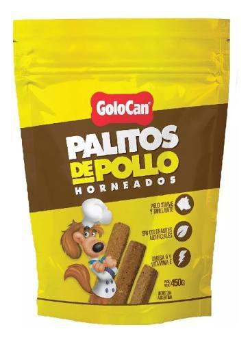 Golosinas perro golocan palitos sabor pollo 450g 2 bolsas