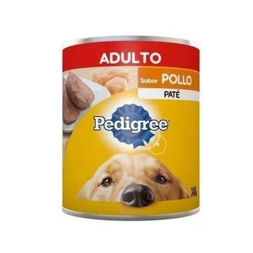 Lata pedigree adulto carne o pollo 340 grs el molino