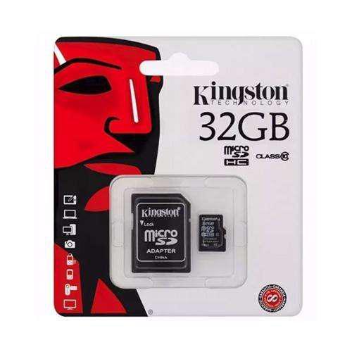 Memoria microsd hc 32gb clase 10 kingston con adaptador sd
