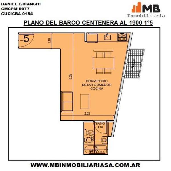 Parque chacabuco ph en construccion monoamb. en del barco