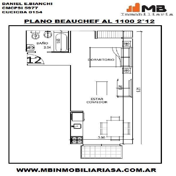 Parque chacabuco venta monoamb. en construcción en beauchef