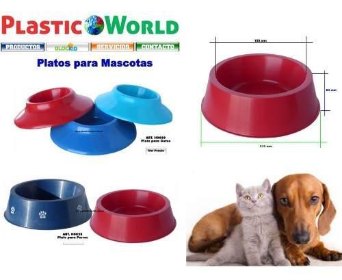 Platos para mascotas (perros) x 100 unidades
