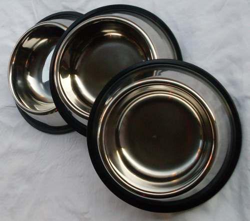 Super plato mediano para perros de acero inoxidable n°3