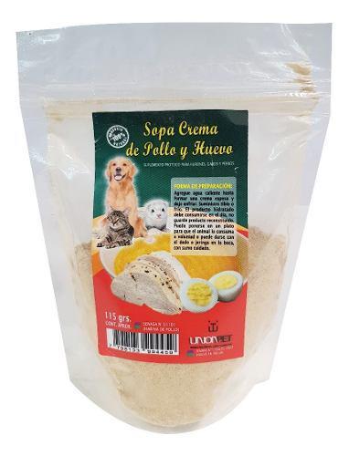 Suplemento proteico hurones gatos perros sopa pollo huevo