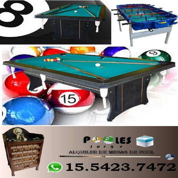 Alquiler *mesas de pool *metegol *juego sapo! fiestas,