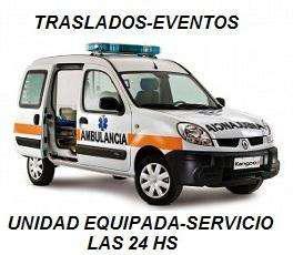 Ambulancias,traslados,eventos 24hs precios accesibles