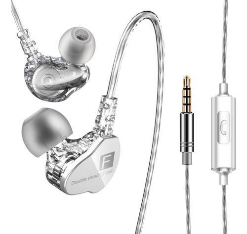 Auriculares in-ear manos libres qkz ck9 doble bobina movil