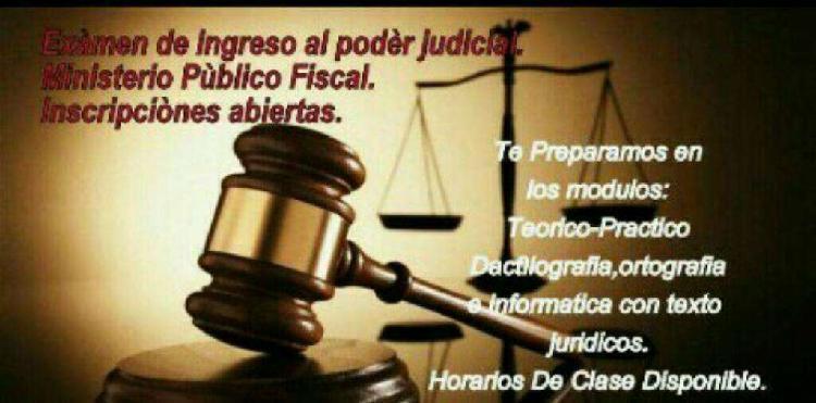 Examen ingreso al poder judicial