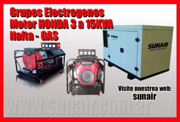 Generadores a gas motor honda