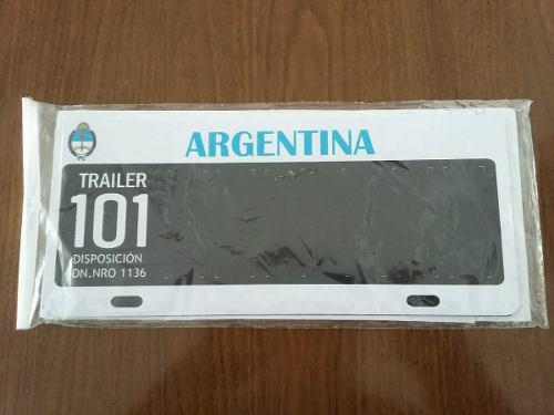 Kit chapa patente para trailer 101 aluminio