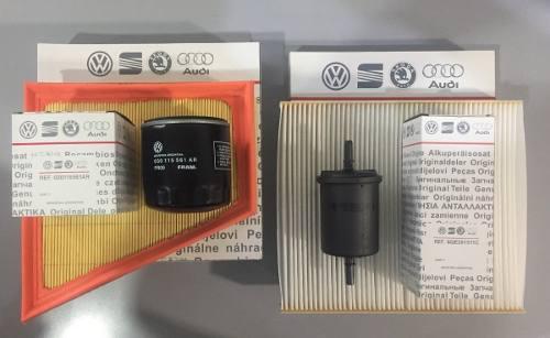 Kit de 4 filtros originales de volkswagen voyage (aire +